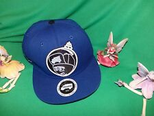 "Trukfit Lil' Wayne ""Feelin Spacey"" Flat Brim Snapback Hat Blue & White 3D Like"