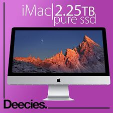 "NUOVO Apple Retina iMac 27"" 5k 4ghz 4.0ghz i7 skylake 32gb RAM 2tb Flash SSD MAC"