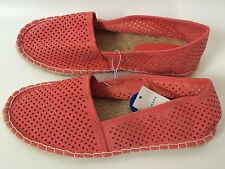 PRIMARK ATMOSPHERE CORAL SLIP ON LOAFER ESPADRILLES HOLIDAY SHOES SIZE 8/42