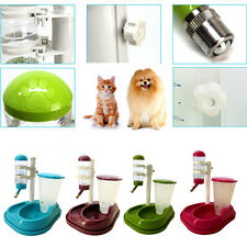 Pet Dog Cat Food Feeder Water Dispenser Bowl Automatic Fountain Drinker Bottle