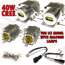 BMW Angel eye CREE 40W E90 Lci Xenon White Halo Rings Upgrade E91 Halogen Lamps