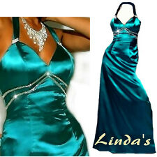 Evening dress prom womens bridesmaid dress formal gown size 10 Teal Blue