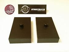 """StreetRays 99-17 Ford F250 1"""" Rear Lift Blocks SuperDuty Kit 2WD & 4WD (BLACK)"""