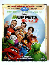 Disney The Muppets Most Wanted Blu Blu-ray DVD Digital Copy Includes Slipcover
