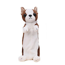 New Kawaii Cartoon Plush Dog Pencil Case Cute Animal Pen Bag For Kids Stationery