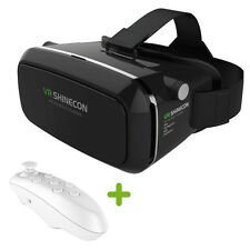 "3D Virtual Reality VR SHINECON Movie Game Glasses For 3.5""-5.5"" Phone+Controller"