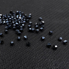 #5301 Fashion DIY jewelry 3mm Glass Crystal Bicone bead 1000pcs   Black bile