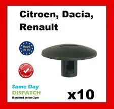 10 x RENAULT Screw Clip, Wheel arch cover fasteners, Boot Lining Clips, (109)