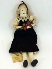 "Spring House Collection NJ Handmade Cloth Doll Mildred 18"" Primitive Velvet Lace"