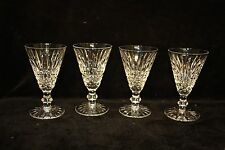 Waterford Cut Crystal Glasses Tramore or Maeve design x 4   11 cms