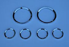 Jaguar XJ6 Ser 2 Smiths Instrument Chrome Bezel Set - Not Original - Upgrade