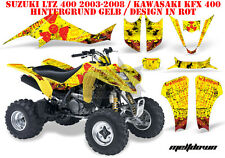 Amr racing decoración Graphic kit ATV suzuki ltz & Kawasaki KFX Meltdown B