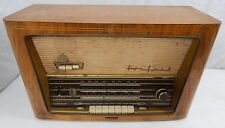 1950's Wood Cased Radio Tonfunk Model W286/USA for Restore / Parts WORKING AS-IS
