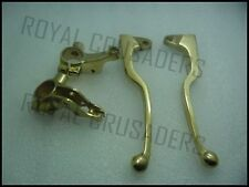 ROYAL ENFIELD NEW BRASS LONG BRAKE AND CLUTCH LEVERS (code2194)
