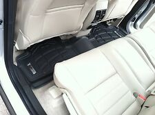 Second Row Floor Mats in Black for 2007 - 2014 Jeep Wrangler Unlimited