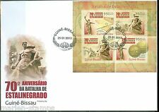 GUINEA BISSAU 2013 70th ANNIVERSARY BATLLE OF STALINGRAD SHEET FDC