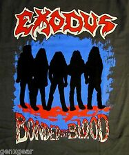 EXODUS cd lgo BONDED BY BLOOD SILHOUETTE Official GREY SHIRT LAST MED new