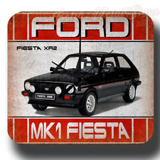FORD MK1 FIESTA XR2 WALL CLOCK RETRO GARAGE WORKSHOP TIN METAL SIGN CLOCK