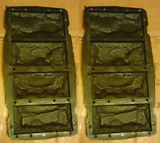 8 Stampi cemento gesso matrice Forme Rivestimento finta pietra fai da te mattoni