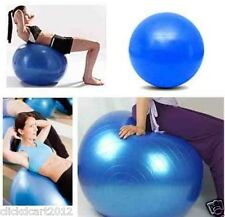 Fitness Gym Ball Exercise Yoga Abdominal Leg Pregnancy Workout With Pump-Silver
