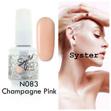 SYSTER 15ml Nail Art Soak Off Color UV Gel Polish N083 - Champagne Pink