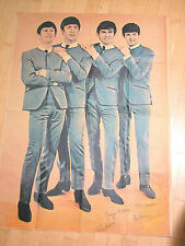 """1964 The Beatles Giant Vintage Fan Club Poster 55"""" X 39"""""""