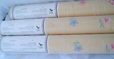 1991 Vintage 3 Rolls of Wallpaper Mary Gilliatts Edwardian Garden vinyl floral