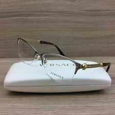 Versace VE 1228 Eyeglasses Palladium Gold Havana 1266 Authentic 53mm
