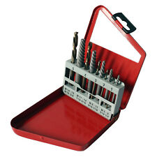 Saber SCREW EXTRACTOR SET -SE10LH 10Pcs,Heavy Duty Alloy Steel,Cobalt Drill Bits