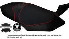 Puntada de agarre y carbono B Rojo Personalizado encaja MV AGUSTA BRUTALE 800 13-15 Cubierta de asiento