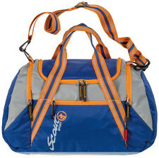 NEU SCOUT 28 Sportbag Sporttasche Nightblue / stone 45 x 28 cm blau grau orange