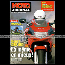 MOTO JOURNAL N°1154 YAMAHA 125 AT1 HONDA CBR 600 BMW R100 R MYSTIC RUSSELL 1994