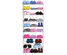 30 Pair 10 Tier Shoe Rack Modern Shoe Organizer Stand Tower Holder Storage New