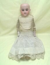 "ANTIQUE BISQUE HEAD LEATHER BODY DOLL GERMANY A.M. 370 22"" AS IS $44.44"