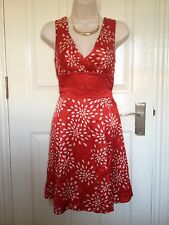 Ted Baker Red Satin Party Cocktail Dress Size 1 / UK 8
