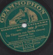 Franz Krüger am Xylophon 1928 : Die Tänzerin von Sevilla