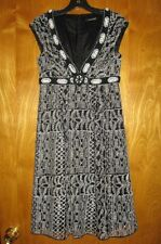 Nanette Lepore  2 black ivory lace beaded embroidered cocktail evening dress A7