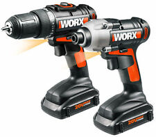 WX916L 20V (2) Piece Li-Ion Combo Kit with Drill and Impact Driver by WORX