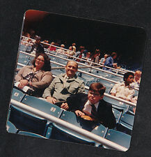 Vintage Photograph Mom & Dad Sitting in Bleechers with Little Boy Watching Game