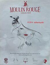 PUBLICITE MOULIN ROUGE COLLECTION BIJOUX ART DECO DE 2013 FRENCH AD PUB JEWELS