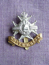 MILITARY CAP BADGE : INSIGNE MILITAIRE - NOTTS & DERBY - THE SHERWOOD FORESTERS