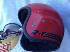 Vintage Bell RT Motorcycle R-T Racing Red Helmet 7 1/8