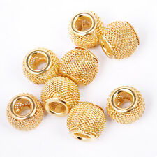 Wholesale 20pcs 12mm Golden Basketball Wives Earrings Lots Spacer Mesh Beads