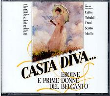 CASTA DIVA.... (CALLAS - TEBALDI - FRENI - SCOTTO - MOFFO ) 2 CD nuovo sigillato