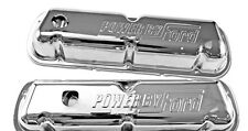 New! Ford Mustang Chrome Valve Covers 289 302 V8 Power by Ford Logo Pair
