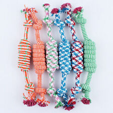 Puppy Dog Pet Toy Cotton Braided Bone Rope Chew Knot New Random color