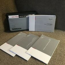 2005 Nissan Titan Owners Manual with warranty and reference guide and case