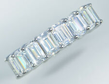 8.5 ct Emerald Cut Eternity Ring Top Russian Quality CZ Extra Brilliant Size 5