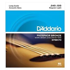D'ADDARIO EPBB170 PHOSPHOR BRONZE ACOUSTIC BASS STRINGS, MEDIUM GAUGE 4's 45-100