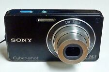 Black Sony Cybershot DSC-W350 14.1 MP Digital Camera - WORKS PERFECTLY